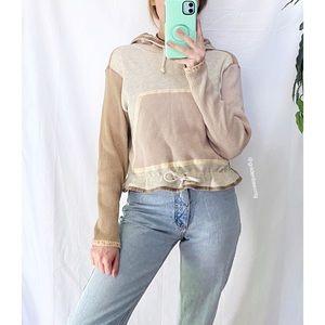🌿 Vintage Cozy Boho Thermal Knit Hoodie 🌿